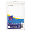 Avery Avery® Removable Adhesive Print or Write Name Badge Labels AVE 5147