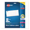 Labels, Stamps, Index Dividers: Avery® Easy Peel® Return Address Labels