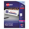 Avery Avery® Large Embossed Tent Cards AVE 5309