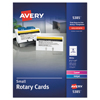 Cards Card Stock Rotary Slotted Cards: Avery® Small Rotary Cards