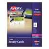 Cards Card Stock Rotary Slotted Cards: Avery® Large Rotary Cards