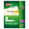 Avery Avery® Permanent File Folder Labels with TrueBlock™ Technology AVE 5766