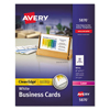 Avery Avery® 2-Side Printable Clean Edge® Business Cards AVE 5870