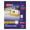 Avery Avery® 2-Side Printable Clean Edge® Business Cards AVE 5874