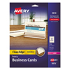 Paper & Printable Media: Avery® 2-Side Printable Clean Edge® Business Cards