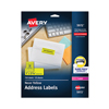 Labels, Stamps, Index Dividers: Avery® High-Visibility Labels