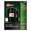 Avery Avery® GHS Chemical Labels AVE 60501