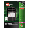 Avery Avery® GHS Chemical Labels AVE 60502