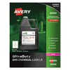 Avery Avery® GHS Chemical Labels AVE 60504