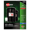 Avery UltraDuty™ GHS Labels for Hazardous Materials and Workplace Safety AVE 60521