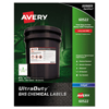 Avery UltraDuty™ GHS Labels for Hazardous Materials and Workplace Safety AVE 60522