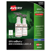 Avery UltraDuty™ GHS Labels for Hazardous Materials and Workplace Safety AVE 60523