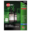 Avery UltraDuty™ GHS Labels for Hazardous Materials and Workplace Safety AVE 60526