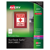 Avery Avery® Surface Safe™ Sign Labels AVE 61511