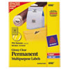 Avery Avery® Glossy Clear Permanent ID Labels AVE 6582