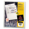 Avery Avery® Heavy-Duty Plastic Sleeves AVE 72611