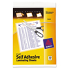 Avery Avery® Self-Adhesive Laminating Sheets AVE 73603