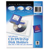 Avery Avery® Self-Adhesive CD/DVD/Zip® Disk Pocket AVE73721