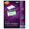 Avery Avery® Pin Style Name Badges AVE 74549