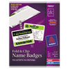 Avery Avery® Fold & Clip Badges AVE 74553