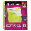 Avery Avery® Corner Lock™ 3-Pocket Binder Pockets AVE 75310