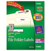Avery Avery® Permanent File Folder Labels with TrueBlock™ Technology AVE 75366