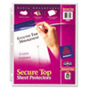 Avery Avery® Secure Top Sheet Protector AVE 76000