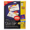 Avery Avery® 2-Side Printable Clean Edge® Rounded Corner Business Cards AVE 88220