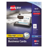Avery Avery® 2-Side Printable Clean Edge® Business Cards AVE 8870