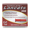 Lancets: Pharma Supply - Advocate® 30-Gauge Pull-Top Lancets