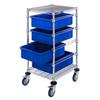 Quantum Storage Systems Mobile Bin Cart System QNT BC212434M1BL