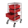 Quantum Storage Systems Mobile Bin Cart System QNT BC212434M1RD