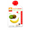 Kid's Snacks For Babies: Happy Baby - Banana & Kiwi Pouch 6+ Months - 3.5 oz - Case of 16