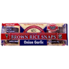 Brown Rice Snaps Onion Garlic Crackers