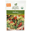 Simply Organic Italian Salad Dressing BFG 53491