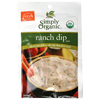 Simply Organic Ranch Dip Mix BFG 53492