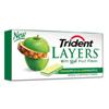 Cadbury Adams Trident Gum Layers Green Apple and Pineapple BFV AMC60007-BX