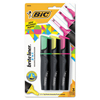 Bic Brite Liner 3 n 1 Highlighters, 3 n 1 Tip, Assorted BIC BL3P31AST