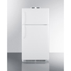 Summit Appliance Accucold Medical® 15 CU FT Break Room Refrigerator-Freezer, White with NIST Calibrated Alarm/Thermometers SMA BKRF15W