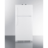Summit Appliance Accucold Medical® 18 CU FT Break Room Refrigerator-Freezer, White with NIST Calibrated Alarm/Thermometers SMA BKRF18W