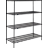Nexel Industries Black Epoxy Finish Shelving Starter Unit NEX 24607B