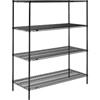 metal shelving units: Nexel Industries - Black Epoxy Finish Shelving Starter Unit