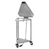 Blickman Industries Hamper Triangular Space Saver Foot Operated w/ Pneumatic Top BLI 096230100P