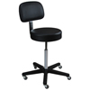 Blickman Industries Spindle Exam Stool w/ backrest BLI 1021113325