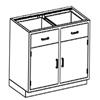 Blickman Industries Base Cabinet BLI 2013335000