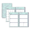 Blue Sky Rue Du Flore Weekly/Monthly Wirebound Planner, 8 x 5, Green/Lavender, 2020 BLS101603