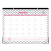 Blue Sky Dabney Lee Ollie Desk Pad, 22 x 17, Gray/Pink, Clear Corners, 2020 BLS 102137