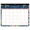 Blue Sky Day Designer Tablet Calendar, 11 x 8 3/4, Navy Floral, 2019 BLS 103630