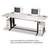 computer workstations: BALT® Split-Level Computer Training Table, 72 x 36