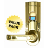 iTouchless Bio-Matic™ Fingerprint Door Lock Gold - Left Handle ITO BM001LCS